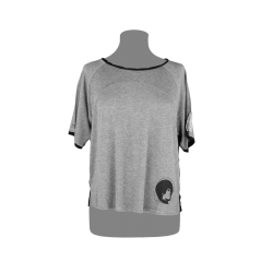 T-shirt Black Colore Grigio...