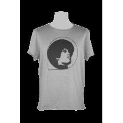 T-shirt Grunge Logo Grigio...
